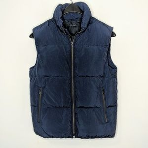 Theory Puffer Vest Navy Men's Small